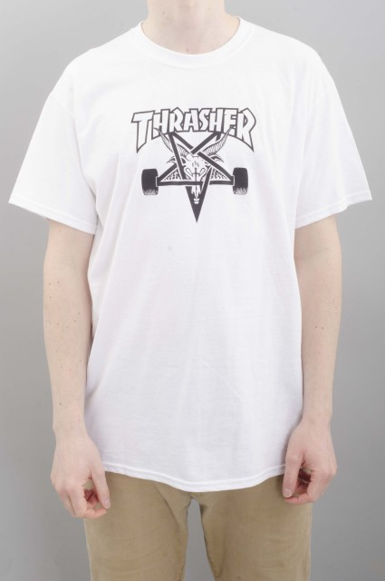 Tee-shirt manches courtes homme Thrasher-Sk8 Goat-SPRING16