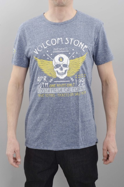 Volcom-Showtime Tri S/s Grey Blue-SPRING16